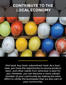 contribute to the local economy