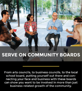 serve on community boards